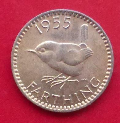 A 1955 Queen Elizabeth Ii Gb One Farthing Coin / Superb Example