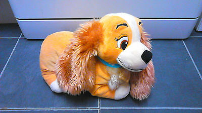 "Disney Lady From Lady And Tramp 11""x9"" Plush Toy Dog"