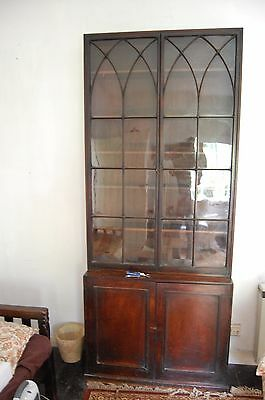 Antique Georgian Victorian Display Cabinet Bookcase