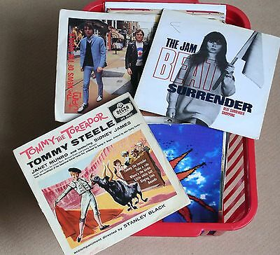 Collection of 70-plus 7-inch vinyl singles and EPs Beatles, Elvis, Jam, 60s