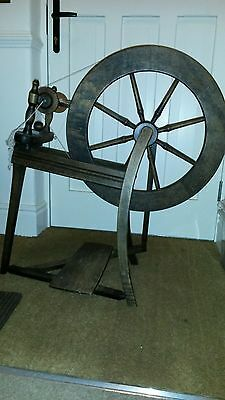 Traditional vintage wooden spinning wheel