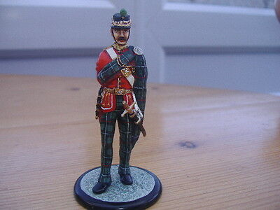T.m.1977 Painted Lead Soldier On Metal Base.