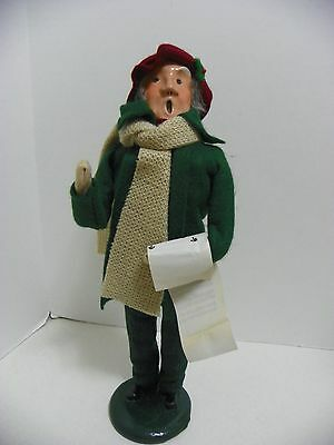 "BYERS CHOICE TRADITIONAL  MAN  CAROLER, 1986   12"" Tall"