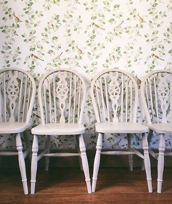 Hand painted Shabby Chic Wheelback Kitchen Dining Chairs