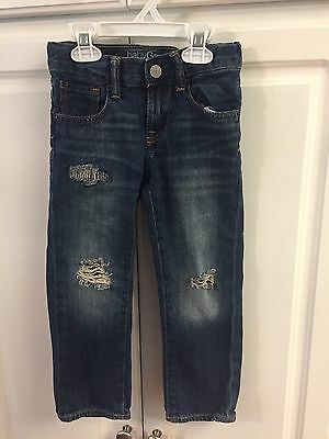 Gap Toddler Boys Distressed Straight Jeans Size 4 EUC