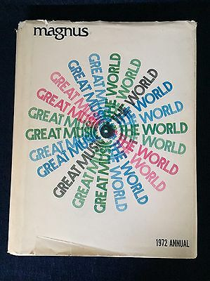 1972 Annual Magnus Organ Corp. Great Music Of The World Book