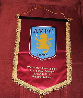 Walsall V Aston Villa Pre Season Friendly 27-7-2010 Player Exchange Pennant