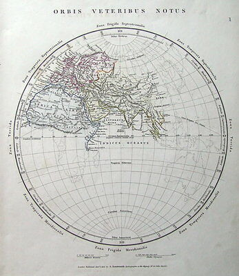 THE ANCIENT WORLD, EASTERN HEMISPHERE Arrowsmith antique map 1828