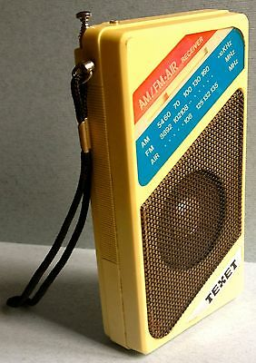 Rare Vintage 80's TEXET Pocket Transistor Radio. AM/FM RECEIVER.