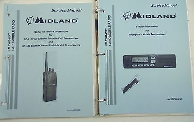 Midland FM Two-Way Radio Service Manuals Set/2 Pre-Loved