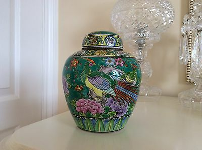 Japanese Vintage Ginger Jar Hand painted Matsueda Pottery Studio?