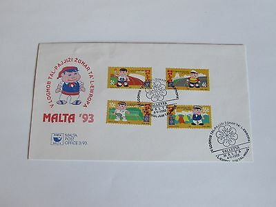 1993 Malta First Day Cover NO ADDRESS