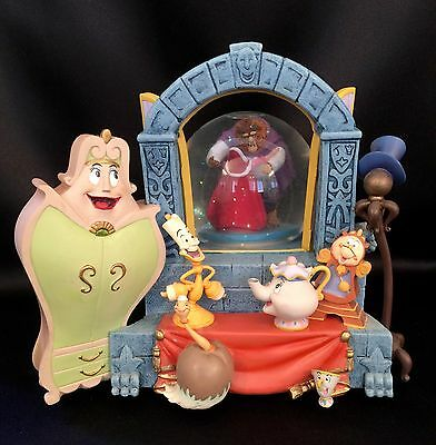 """Disney Very Large """"Beauty and the Beast Rotating Musical Snowglobe 2005"""""""