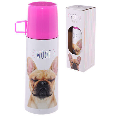 French Bull Dog Flask - Bull Dog - Dogs - Cute - Pink - Pet - Gift Idea - Christ