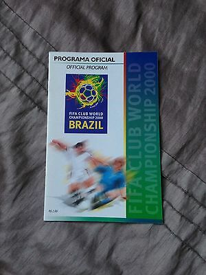 OFFICIAL PROGRAMME FIFA WORLD CLUB CHAMPIONSHIPS 2000 Inc MANCHESTER UNITED