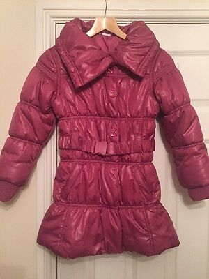 Girls Next Pink Quilted Coat Age 9-10 Years