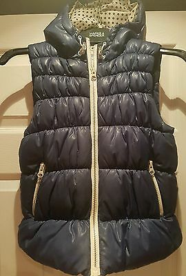 Girls navy, quilted gillet