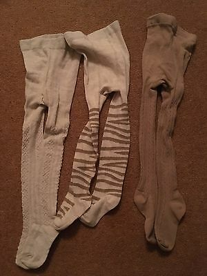 Next - 3 Pairs Of Girls Tights - Age 2 - 3 Years
