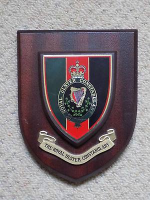 Royal Ulster Constabulary (RUC) wall plaque