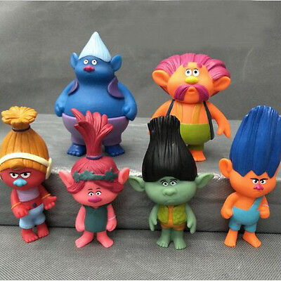 6 Pcs/lot 2016 New Elf Trolls Anna Justin Russell Gwen Elves Troll Doll PVC Mode