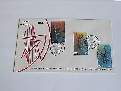 1985 Malta First Day Cover Christmas NO ADDRESS