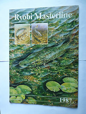 Ryobi Masterline 1987 Fishing Tackle/Equipment Catalogue/Guide