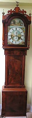 "Antique Longcase Grandfather Clock by Rennison of Sunderland 95"" x 21"" x 10''"