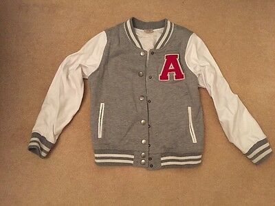 Girls Zara Letterman Jacket Aged 9-10 Years - Excellent Condition