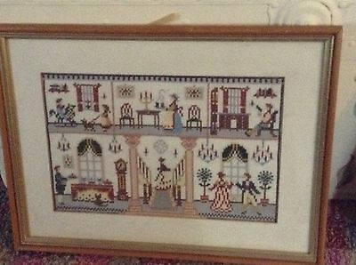Needlepoint Tapestry Framed Picture