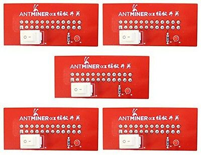 *5 PACK!* AntMiner ATX Power Supply Jumper Switch w/ LED for PSU/ BITCOIN MINER