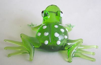 russian glass animal frog murano figurine art hand blown #1