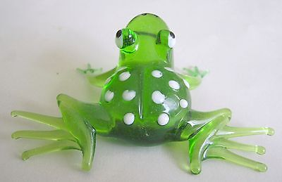 russian glass frog murano figurine art hand blown #1