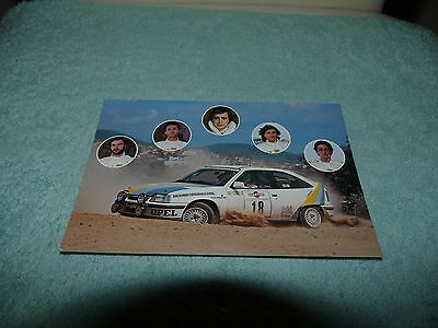 Card Cartolina OPEL TEAM 1986 Campionato Italiano Rally Conrero Postcard
