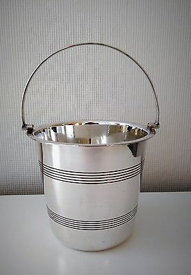 VTG Angora silver plate wine / champagne cooler or ice bucket - swing handle VGC