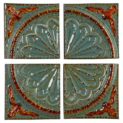 Rustic Distressed Vintage Old World Metal Medallion Wall Sculpture Art Panel NEW
