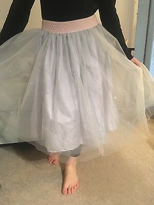 monsoon party skirt net with star sequins angel fairy age 9-10 years