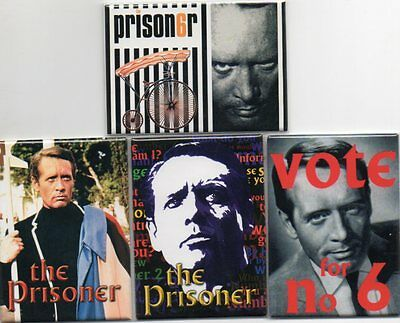 The Prisoner - Fridge Magnets - New and Sealed - 4 Different - Ideal Present