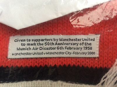 Rare Manchester United Munich Scarf Collectable.