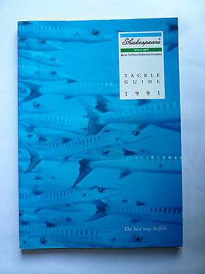 Shakespeare 1991 Fishing Tackle/Equipment Guide/Catalogue (Rods/Reels/Fly/Sea)