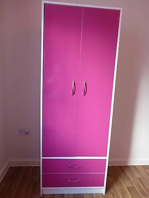 Pink and White Wardrobe - Excellent Condition