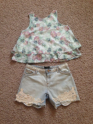 Girl`s shorts and top River Island size 11-12y