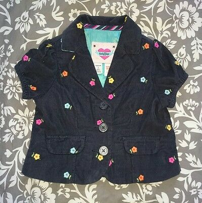 Girls Baby Gap corduroy navy blazer jacket, size 2yrs.