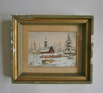 """A Watercolour  Painting Of  """"a Russian Church"""" -  Signed"""