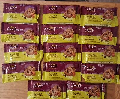 Diet Chef Meals Fruit & Oat Breakfast Cookie X 14  Lose Weight Fast