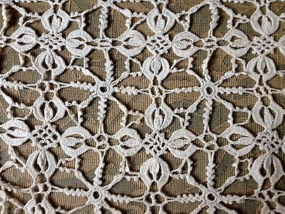 Old Vintage Crochet Lace Reminding Bobbin Lace  Of-white Runner