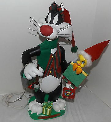 1996 Matrix Looney Tunes Sylvester Tweety Christmas Animated Light Motionette