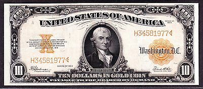 US 1922 $10 Gold Certificate FR 1173 VF-XF (-977)
