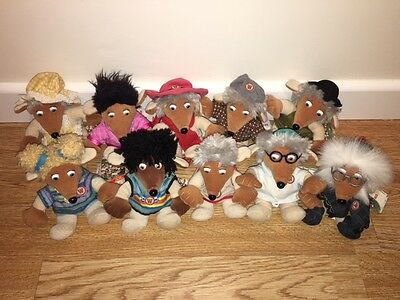 Wombles:::beanies:::golden Bear:::collectible - Complete Set:::tagged