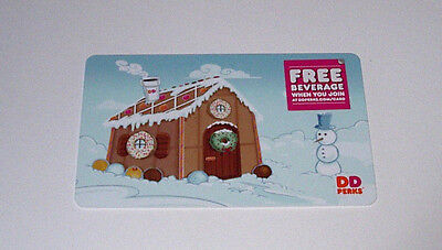 1 New Dunkin Donuts Winter Holiday Gift Cards No Cash Valve Great Gift Card