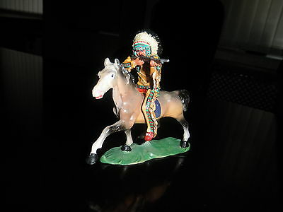 Wild West indian 7 cm, a new figure for ELASTOLIN, LINEOL, MARX, CHIALU, etc.